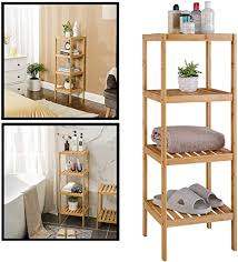 decopatent badezimmer regal aus bambusholz als offenes