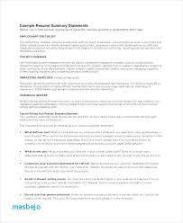 Resume Summary Examples Entry Level Sample Of Skills Tutorial Pro