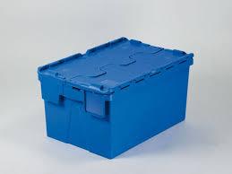 bac a couvercle bac plastique couvercle crocodile 54l 600x400x310 mm bleu