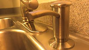 Install Kohler Sink Strainer by How To Install A Kohler Soap Dispenser For A Kitchen Sink Youtube