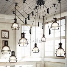 light country style industrial kitchen lighting pendants