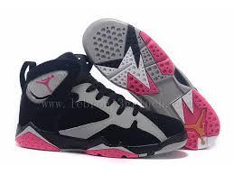 Fine Air Jordan 7 Gs Fuchsia Flash Sport Girls Authentic Quality Grey Black Pink