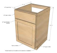 Diy Wood Cabinet Plans by Ana White Face Frame Base Kitchen Cabinet Carcass Diy Projects