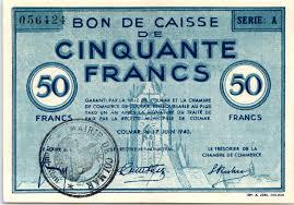 chambre colmar banknote 50 francs colmar chambre de commerce série a