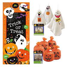 amazon com outdoor halloween decor set door poster pumpkin