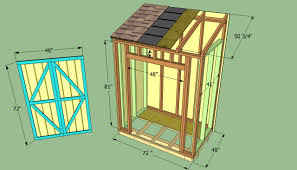 6x8 Storage Shed Plans by How To Build A Lean To Shed Howtospecialist How To Build Step