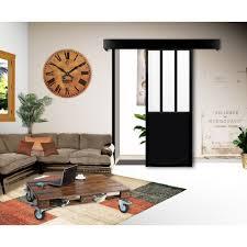 kit porte coulissante atelier noir porte intérieure porte