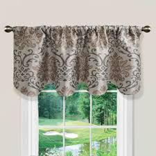 Kohls Tension Curtain Rods by Kohls Louisa Scalloped Window Valance 52 U0027 U0027 X 18 U0027 U0027 Windows