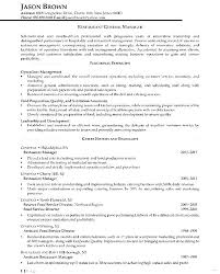 Restaurants Manager Resume Restaurant Sample For