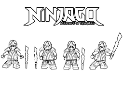 Ninja Ninjago Is Master Of Spinjitzu Coloring Page