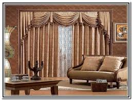 living room valances living room swag curtains and window