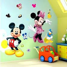 wall ideas mickey mouse wall decorations party cartoon mickey