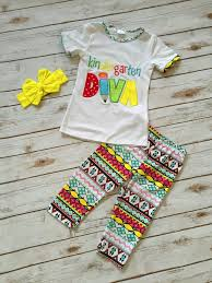 kindergarten diva back to girls boutique clothing
