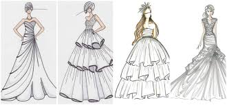 For Beginners Fashion Designing Black And Wedding Sketch Etsy Dress Drawing Designs Kids How To Draw Clothes