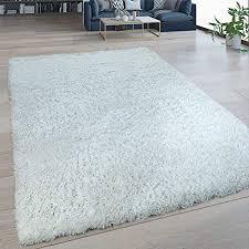 paco home hochflor wohnzimmer teppich waschbar shaggy flokati optik einfarbig creme weiß grösse 120x160 cm
