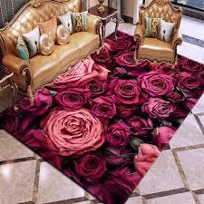 großhandel 3d druck blumen teppich teppiche multicolor rosa rot hochzeit teppiche für schlafzimmer wohnzimmer teppich anti rutsch bodenmatten