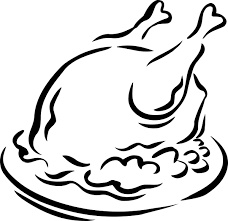 chicken food clipart black and white 5