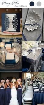 Stunning Navy Blue And Silver Wedding Color Inspiration