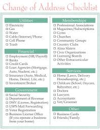 moving change of address checklist www homesweetlifeblog