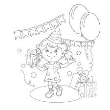 Coloring Page Outline Of Cartoon Girl With Mop And Bucket Housework