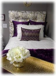 Decorating Ideas Purple Gold And Cream Dorm Room With Tufted Headboa 163700 College