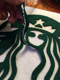 Sue At Home Starbucks Latte Costume Felt