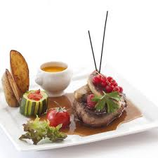 cuisine in semi gourmet restaurant with terrace clermont ferrand