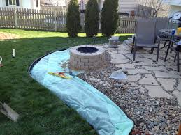 Menards Stone Patio Kits by Exterior Exciting Stone Walkway With Pea Gravel Patio And Outdoor
