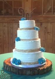 Rustic Teal Wedding Cake