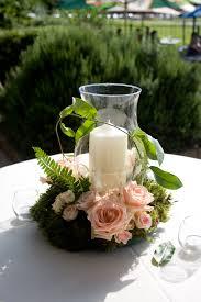 hurricane centerpieces pillar candles wedding centerpieces and