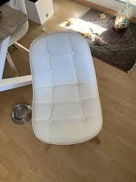 4 esszimmer stühle skandinavischer stil in weiß kunstleder