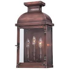 minka copperton 18 1 2 high copper outdoor wall light 5k025