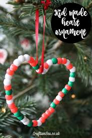 Heart Shaped Easy Christmas Ornaments For Kids