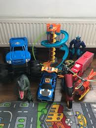100 Monster Truck Track Set Toy Bundle Including Large Monster Truck Thomas Mini Track Play Set
