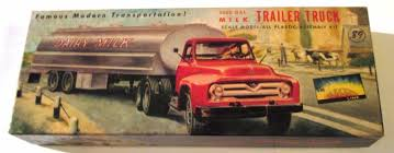 VINTAGE [1955] AURORA 5000 GAL MILK TRAILER TRUCK PARTS SEALED ...