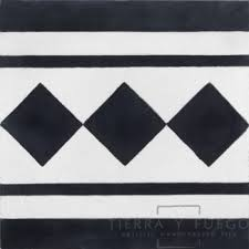 8x8 trafalgar 2 border barcelona cement floor tile