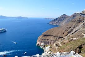 Cruise Ship Sinking Santorini by Santorini Greece U2013 Traveling Love Bug