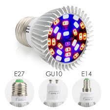 spectrum18w 28w e27 e14 gu10 led grow light blue uv ir