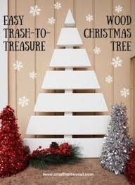 I Love This Wooden Christmas Tree Made From Scrap Pieces Of Trim Board