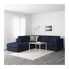 canape d angle bleu vimle canapé d angle 4 places sans accoudoir orrsta bleu noir ikea