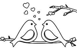 Love Birds Talking About All Day Coloring Pages
