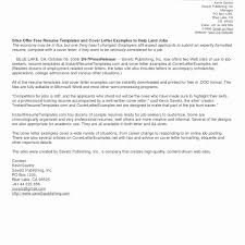 Cover Letter Template for Human Resources Sample Simple Template