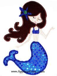 Mermaid Applique Design