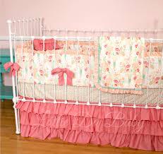 Aqua And Coral Crib Bedding by Coral Crib Bedding Sets Kids Coral Crib Bedding Nursery Sets