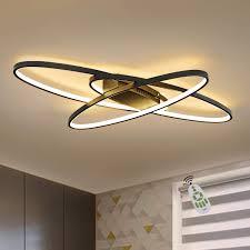 gbly led dimmbar deckenleuchte modern schwarz wohnzimmerle warmweiß neutralweiß kaltweiß 75w innen dekorative deckenbeleuchtung für wohnzimmer