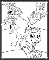 Everest Marshall And Chase Coloring Page
