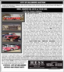 City Of Hollsboro Auction, Hess Auction Co, Sardinia, OH Gene Sharon Merkle Schrader Real Estate Auction Of Fort Wayne Kenworth Trucks In In For Sale Used On Auctiontimecom 2015 Cat Ct660 Results Charleston Auctions Past Projects Contractor Liquidation Tool Auction Allen County Indiana Naa Announces 2017 Marketing Competion Winners 2006 Hiab 255k3 Boom Bucket Crane Truck Or Heavy Duty Heavytruck Auto 2ring And Trailer Usa May 9 2018 Ritchie Bros Auctioneers