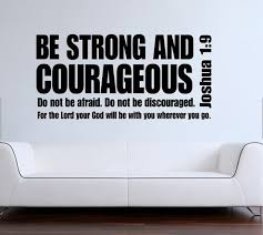 Joshua Be Strong And Courageous Bible Verse Scripture Quote Vinyl Wall Decal Sticker In Stickers From Home Garden On Aliexpre
