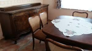 qualitäts antik esszimmer komplett mit 6 stühlen eur 600