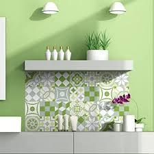 ambiance live 24 aufkleber fliesen sticker selbstklebend fliesen mosaik fliesen wandtattoo badezimmer und küche fliesen kleber patchwork grün
